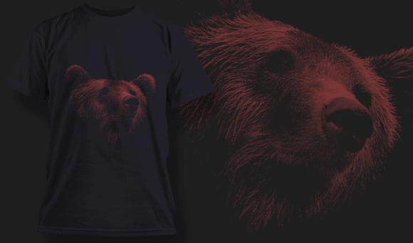 Bear | T-shirt Design Template 2521