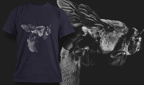 Bee | T-shirt Design Template 2518