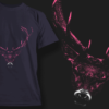 Buck With Large Antlers | T-shirt Design Template 2517