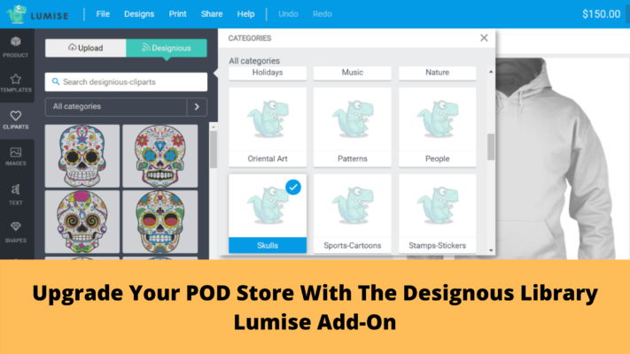 Upgrade Your POD Store With The Designous Library Lumise Add-On (BETA) designious library lumise addon