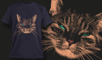 Judgmental Cat With Green Eyes