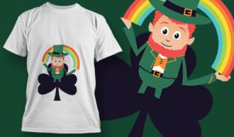 Leprechaun Holding A Rainbow