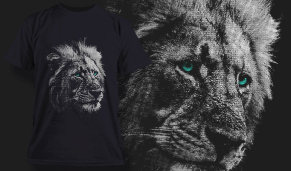 Grizzled Lion | T-shirt Design Template 2526