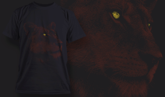 Lioness | T-shirt Design Template 2527