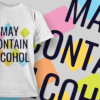 May Contain Alcohol | T-shirt Design Template 2463 1