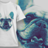 Samoyed With Pink Glasses | T-shirt Design Template 2515 pug preview