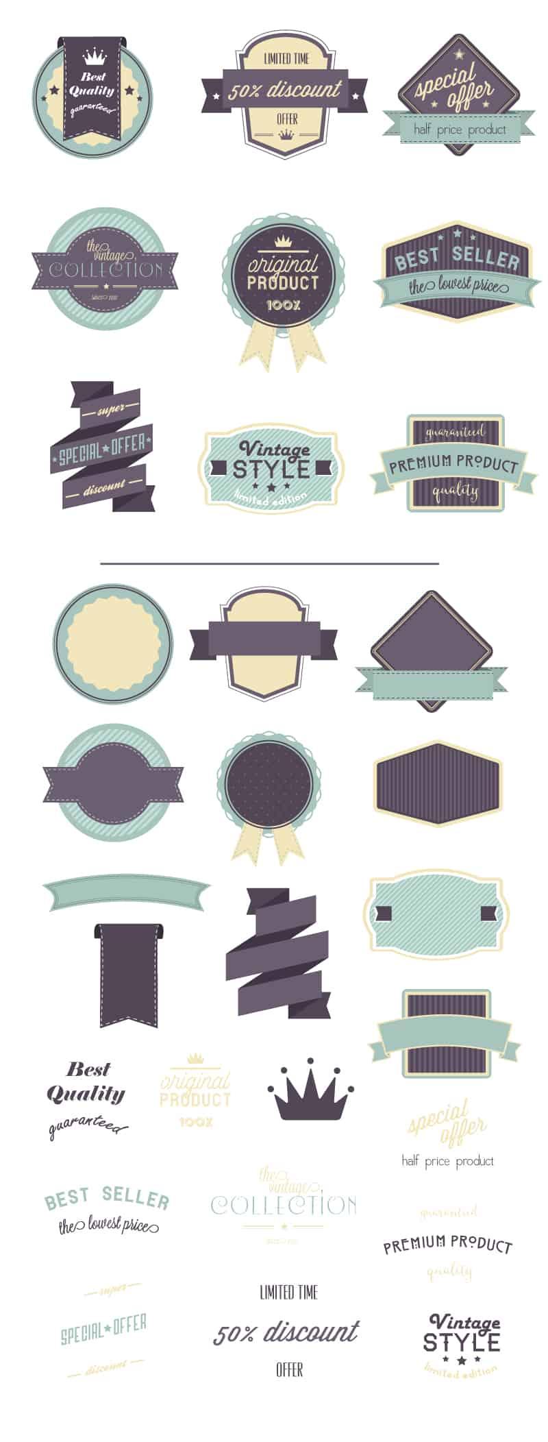 100+ Super Premium Badges 7