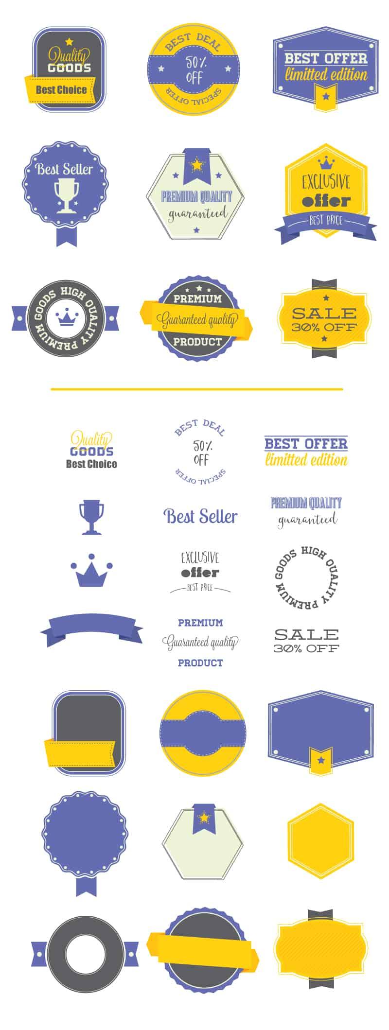 100+ Super Premium Badges 5