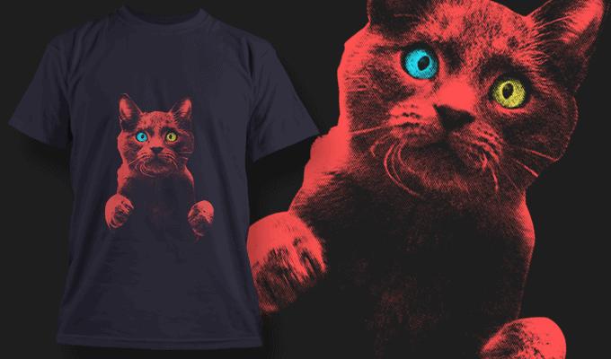 Startled Cat With Heterochromia
