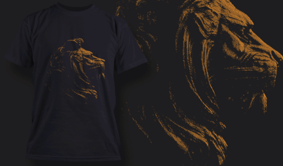 Stone Lion | T-shirt Design Template 2528