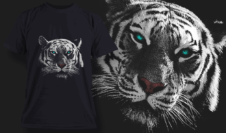 White Tiger | T-shirt Design Template 2522