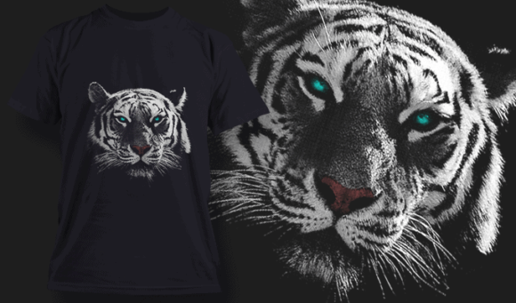 White Tiger | T-shirt Design Template 2522