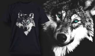 White Wolf | T-shirt Design Template 2523