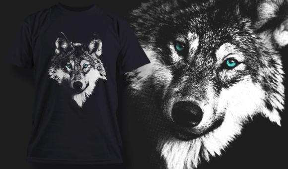 White Wolf | T-shirt Design Template 2523