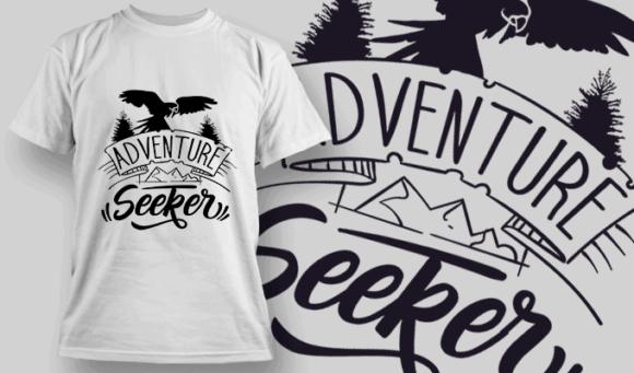 Adventure Seeker | T-shirt Design Template 2601