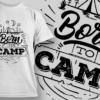 Born To Camp | T-shirt Design Template 2602 1