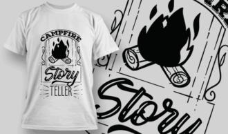 Campfire Story Teller | T-shirt Design Template 2604