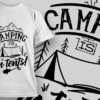 Camping Is In-Tents! | T-shirt Design Template 2605