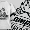 Camping Therapy | T-shirt Design Template 2587 2