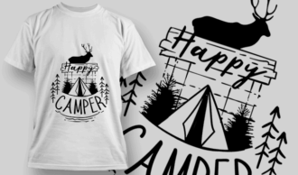 Happy Camper | T-shirt Design Template 2610