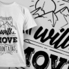 Pack Lighter, Go Further | T-shirt Design Template 2614 she will move mountains preview