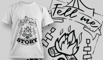 Tell Me A Story | T-shirt Design Template 2616