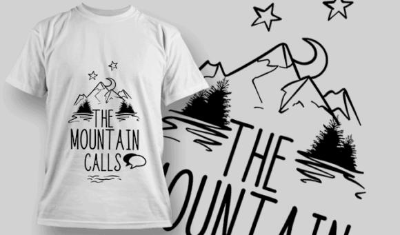 The Mountain Calls | T-shirt Design Template 2617