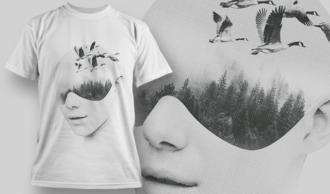 Double Exposure City   T-shirt Design Template 2712