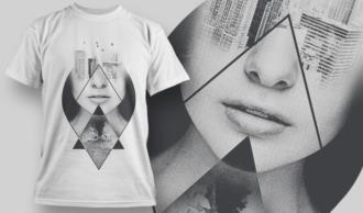 Double Exposure City   T-shirt Design Template 2713