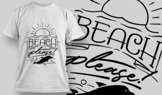Beach, Please! | T-shirt Design Template 2658