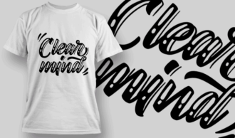 Clear Mind | T-shirt Design Template 2694