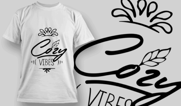 Cozy Vibes   T-shirt Design Template 2693 1