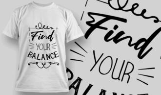 Find Your Balance | T-shirt Design Template 2690