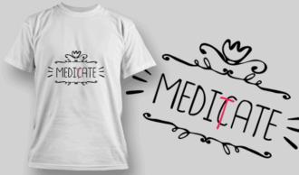 Meditate | T-shirt Design Template 2677