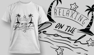 Relaxing On The Beach | T-shirt Design Template 2638