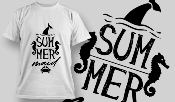 Summermaid | T-shirt Design Template 2633
