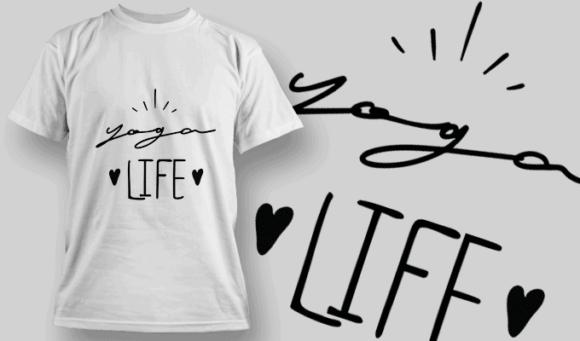 Yoga Life | T-shirt Design Template 2699