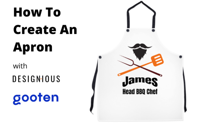 How To Create An Original Apron Design With The Online Designer and Gooten.com 102