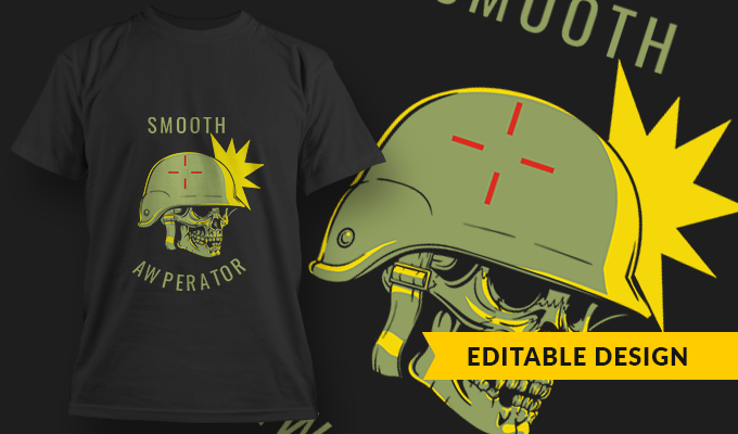Smooth AWPerator | T-shirt Design Template 2755