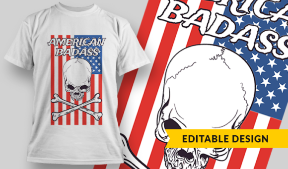 American Badass | T-shirt Design Template 2797 1