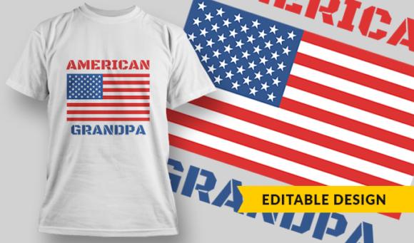 American Grandpa   T-shirt Design Template 2798