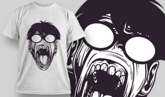 Nerdy Ape With Glasses | T-shirt Design Template 2841