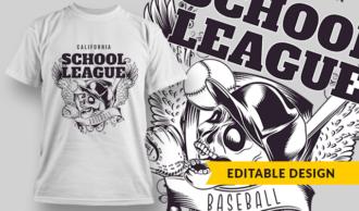 Baseball League | T-shirt Design Template 2800