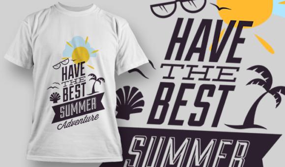Have The Best Summer Adventure   T-shirt Design Template 2821 1