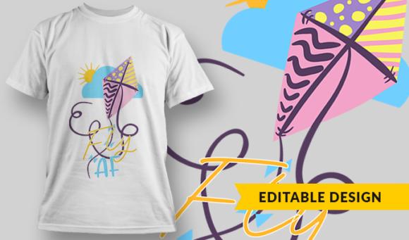 Fly AF | T-shirt Design Template 2848