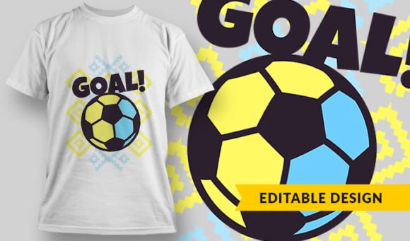Goal!   T-shirt Design Template 2849 1