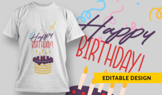 Happy Birthday! | T-shirt Design Template 2851
