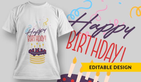 Happy Birthday!   T-shirt Design Template 2851