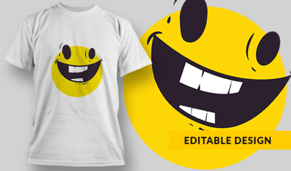 Happy Emoji | T-shirt Design Template 2852 1