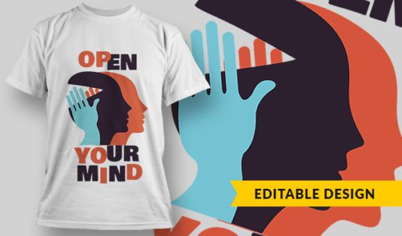Open Your Mind | T-shirt Design Template 2806 1